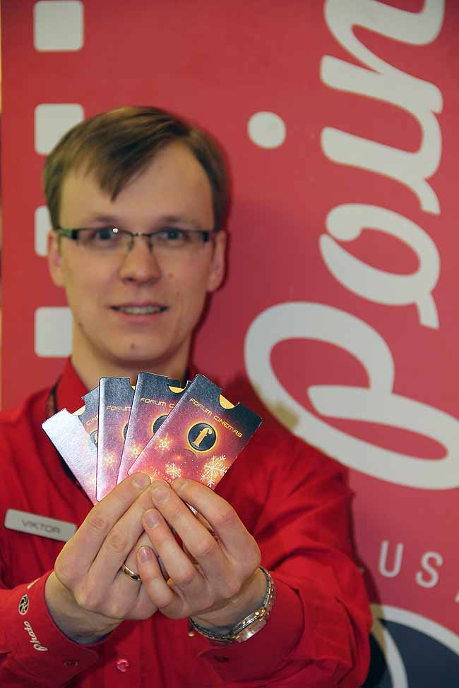 Комплект билетов от Forum Cinemas и Photopoint выиграл Юрий Ларин