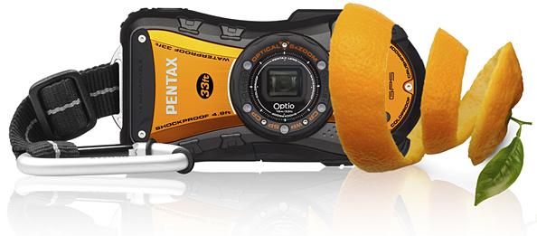 Внимание: найден влагозащищенный компакт Pentax WG-1 GPS оранжевого окраса
