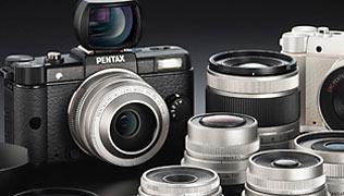 Pentax выходит на рынок гибридных камер с Pentax Q и 5 объективами