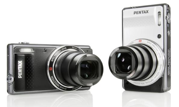 Компакт Pentax VS20 с 20x зумом - вторая кнопка спуска и дигитальный уровень