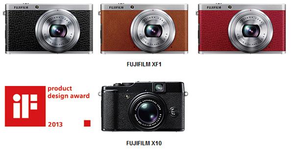 Камеры Fujifilm XF-1 и X10 награждены за лучший дизайн.