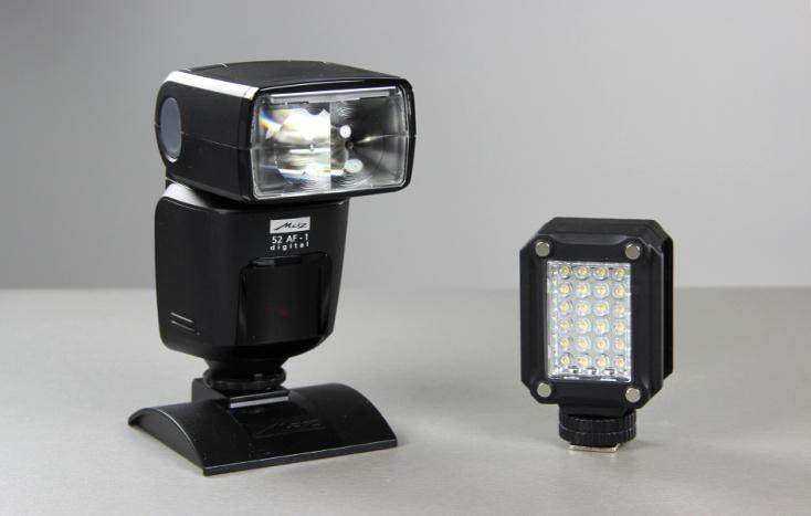 В придачу к вспышке Metz дополнительная лампа всего за 10€.