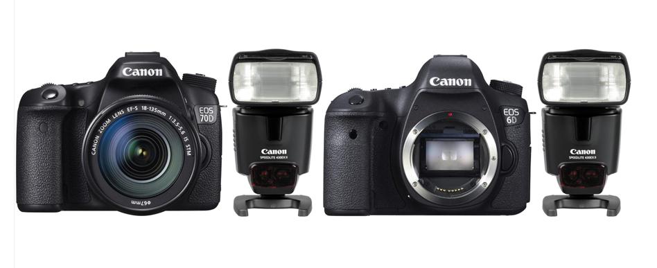 При покупке Canon EOS 70D или EOS 6D вспышка Canon по выгодной цене
