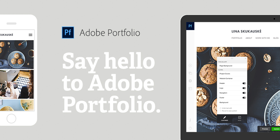 Adobe Portfolio гораздо облегчит создание сайта пользователей Creative Cloud
