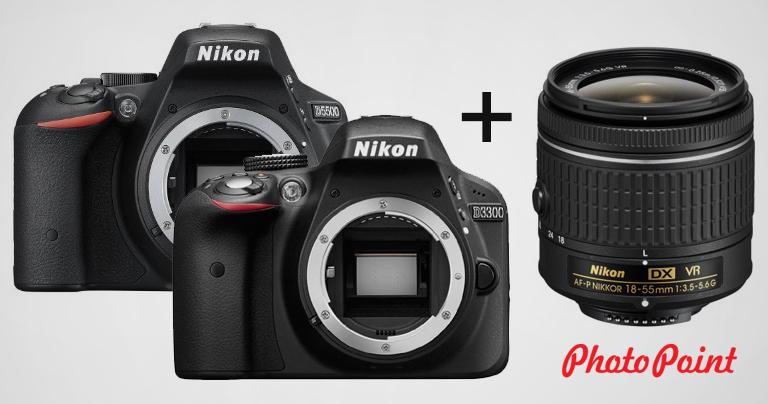 Теперь в продаже: зеркальные камеры D3300 и D5500 с новым AF-P кит-объективом