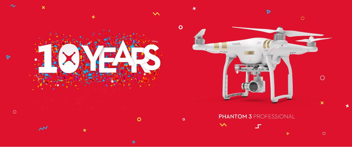 Празднование юбилея DJI продолжается - Phantom 3 Professional теперь со скидкой