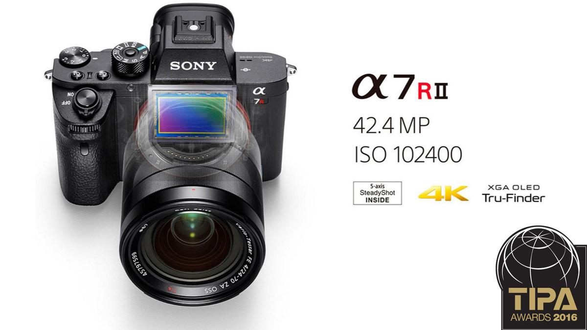 Sony a7R II - лучшая профессиональная беззеркальная камера по мнению TIPA 2016