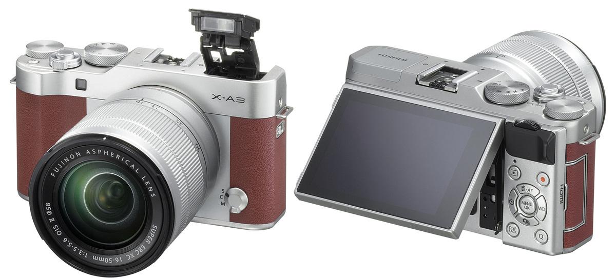Новая беззеркальная камера Fujifilm X-A3 будет оснащена 24 MP матрицей и сенсорным экраном