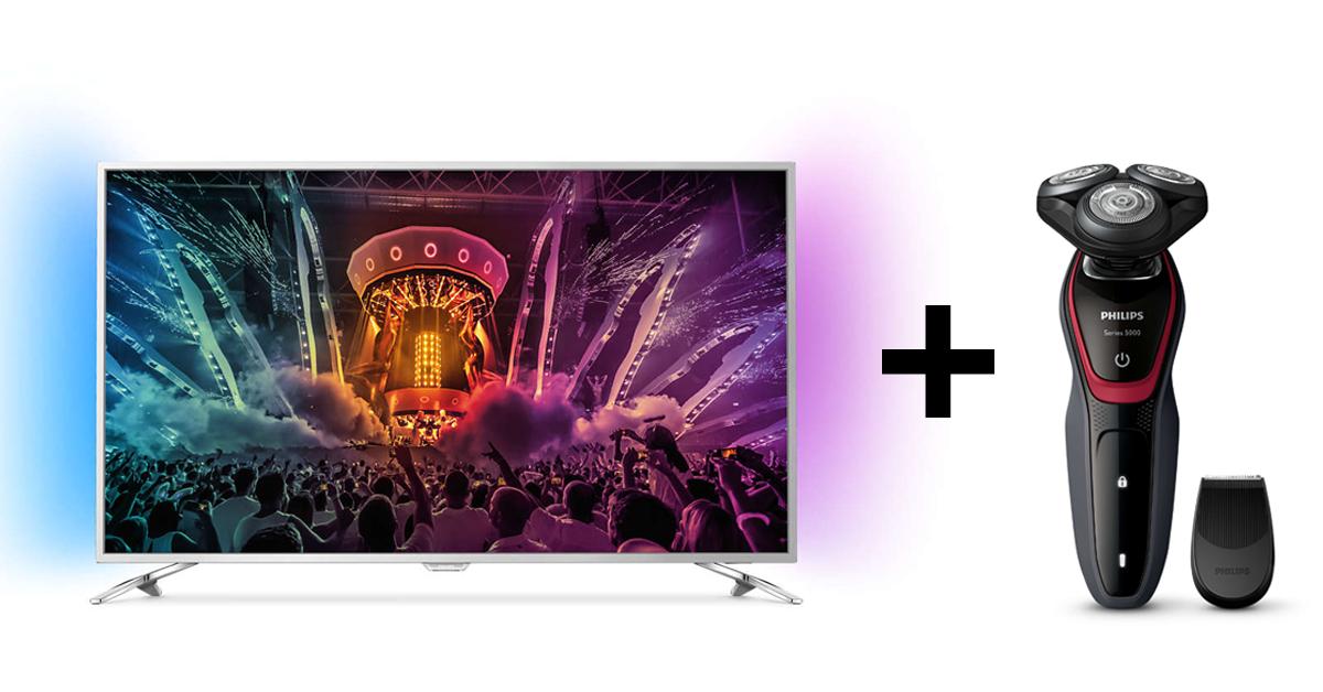С покупкой 4К телевизора Philips электробритва в подарок!