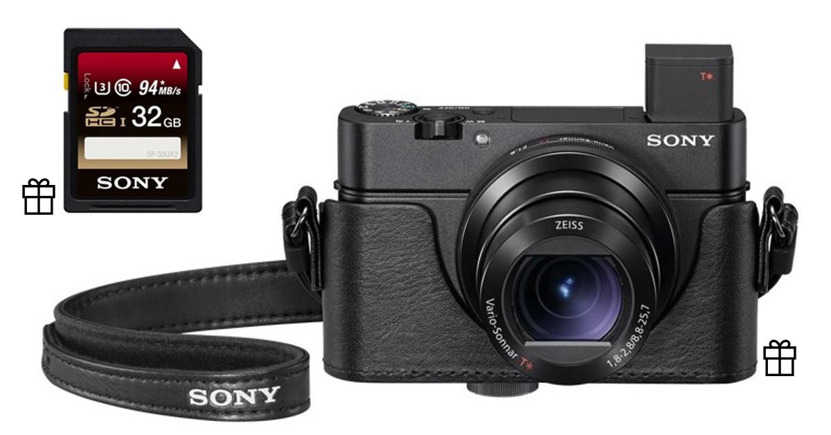 При покупке мощной компактной камеры Sony, ценный бонус в подарок