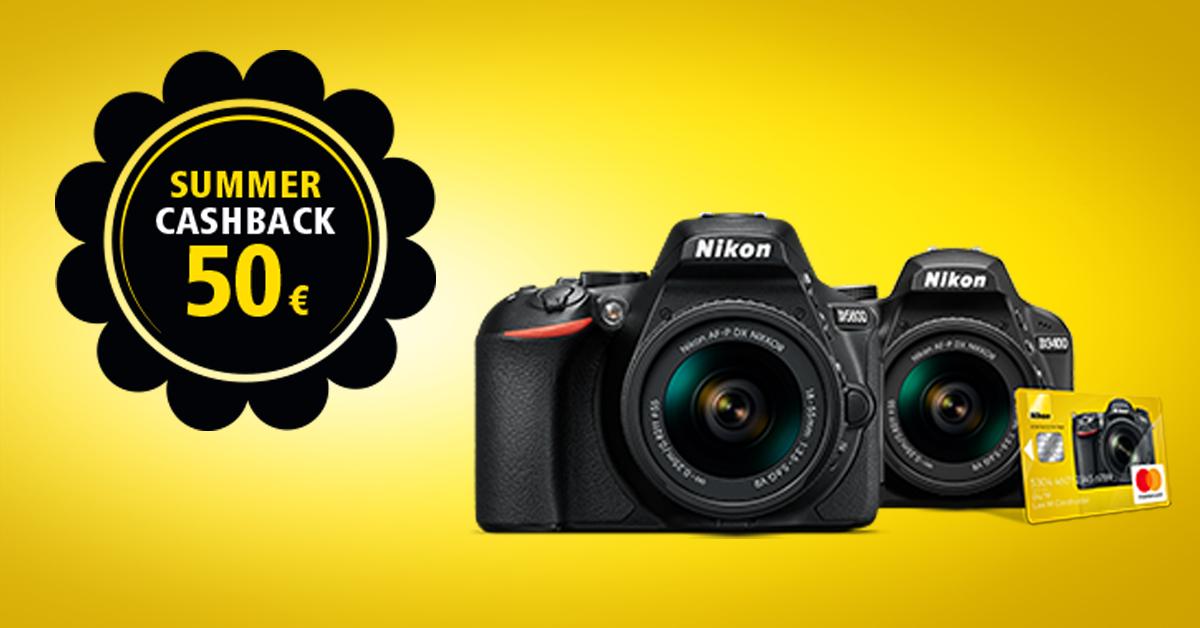 Денежный бонус при покупке Nikon D3400 и D5600