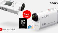 Еще больше ярких воспоминаний - с экшен камерами Sony, 64 GB карта памяти в подарок!