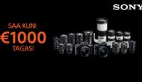 Выгодное предложение! С купленной фототехникой Sony получишь до 1000€ назад!
