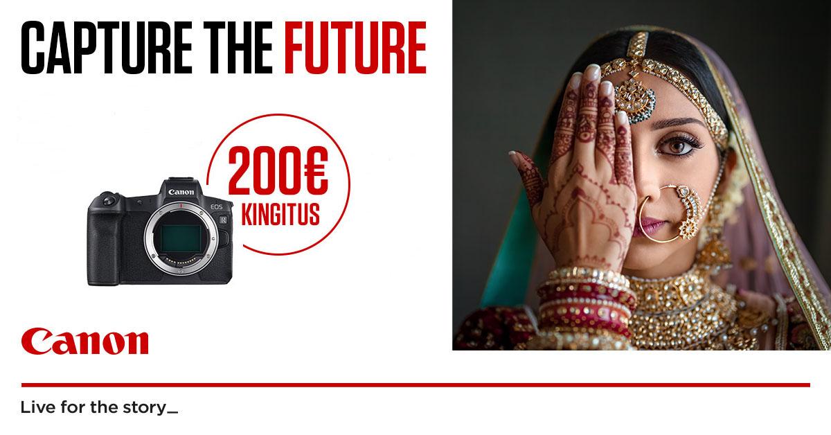 При покупке Canon EOS R получишь подарочную карточку на 200€