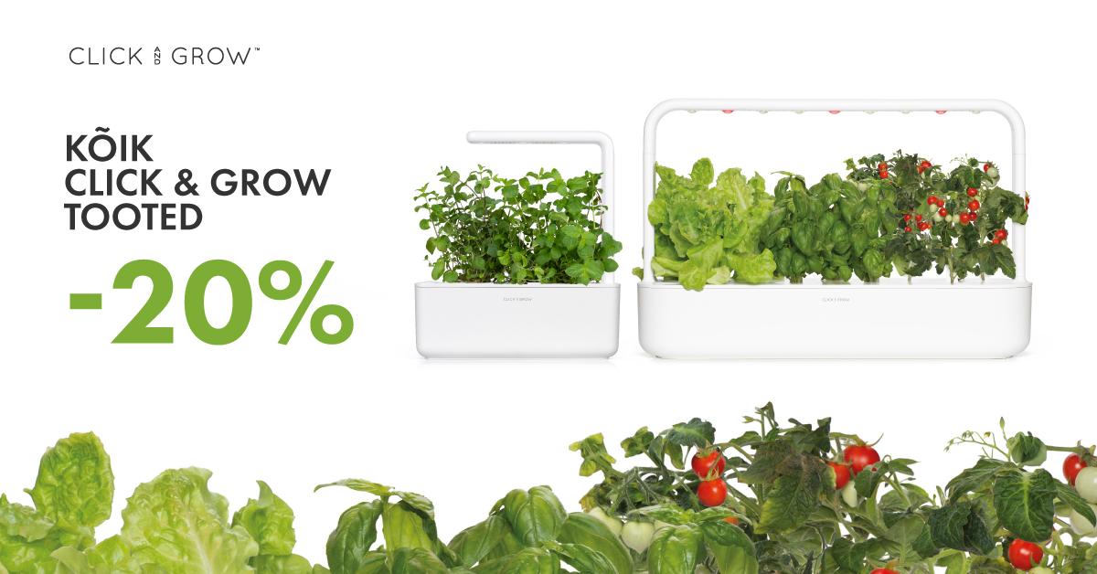 #идеяподаркадлямамы - все Click and Grow товары на 20% дешевле