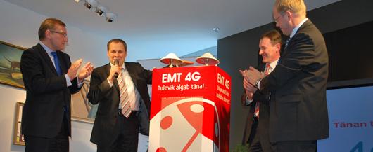 EMT avas Ida-Euroopa esimese 4G testvõrgu