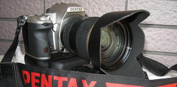 Hõbedase Pentax K-7 karbist-välja pildid