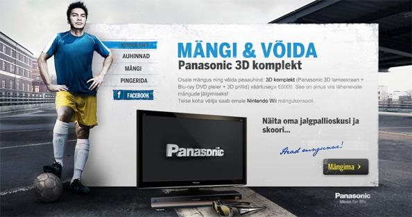 Mängi ja võida Panasonic 3D komplekt või Wii konsool