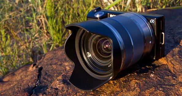 Sony α NEX-5 hübriidkaamera ülevaade Digitesti veebilehel