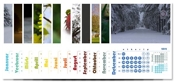 2012. aasta fotokalendrid on juba saadaval