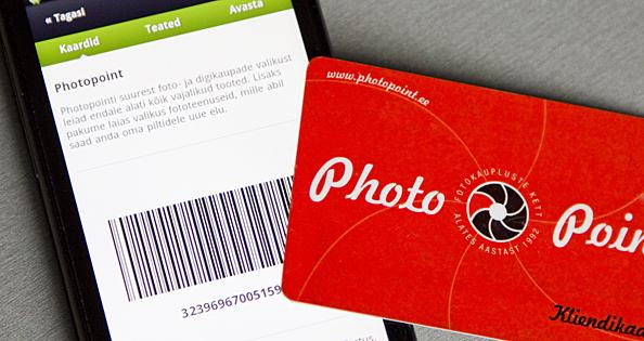 Photopointi poodides asendab nüüdsest kliendikaarti nutitelefon