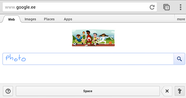 Uus võimalus Google otsingumootori kasutamiseks: käsitsikiri (iOS, Android)