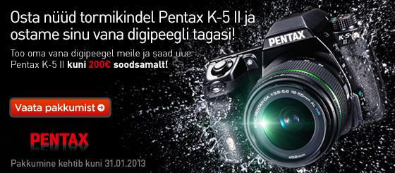 Pentax K-5 II vahetuse läbi kuni 200€ soodsamalt
