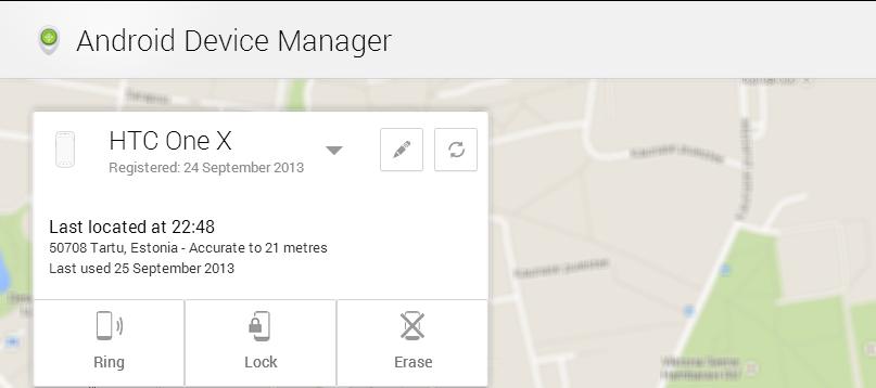Nädala rakendus Androidile 90. Android Device Manager - veel üks võimalus oma telefoni turvata