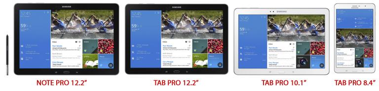 Samsungi tahvelarvutid kolmes erinevas mõõdus – Samsung Galaxy Note PRO ja Samsung Galaxy Tab PRO