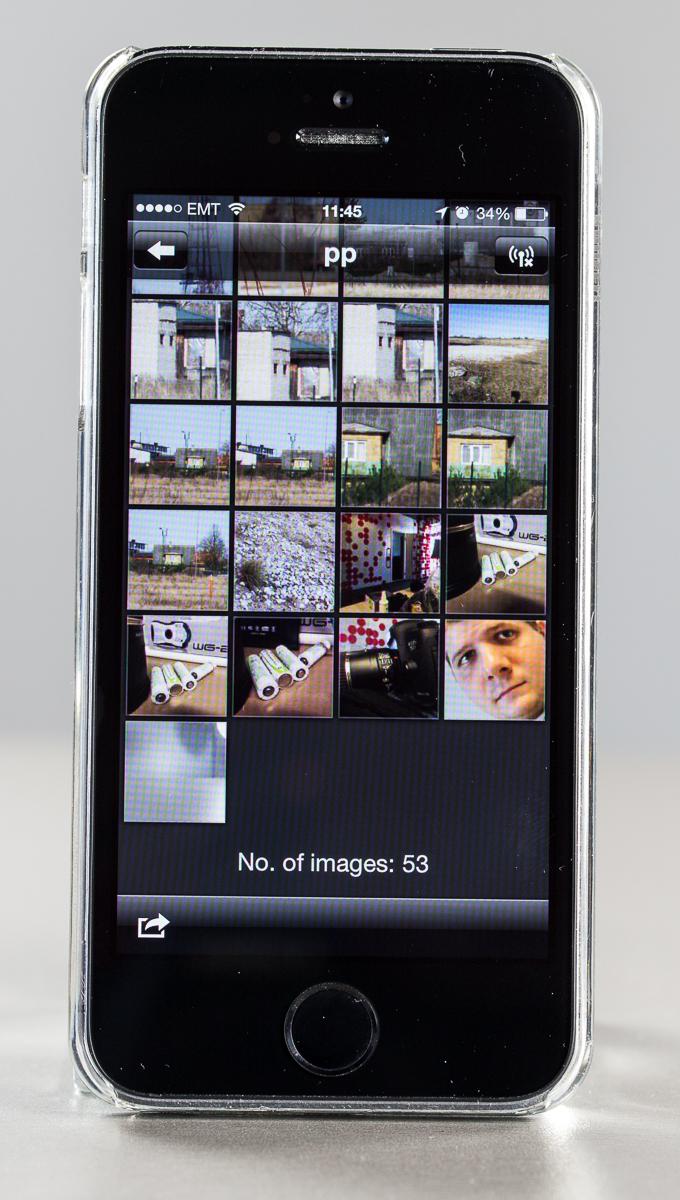 """5fa501ce6d7 See teeb võimalikuks kaameras olevate fotode vaatamise ning nutitelefoni  """"tõmbamise"""". Samuti saab nutitelefoni kasutada kaamera kaugpäästikuna, ..."""