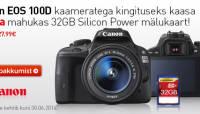 Canon EOS 100D ostul kaasa kingitus