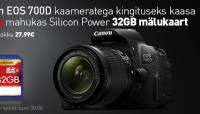 Canon EOS 700D kaameratega kaasa kingitus