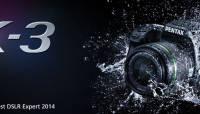 Pentax K-3 sai TIPA 2014. aasta parima ekspertkaamera tiitli