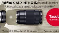 Fujifilm hübriidkaameratega kingituseks kaasa telesuumobjektiiv
