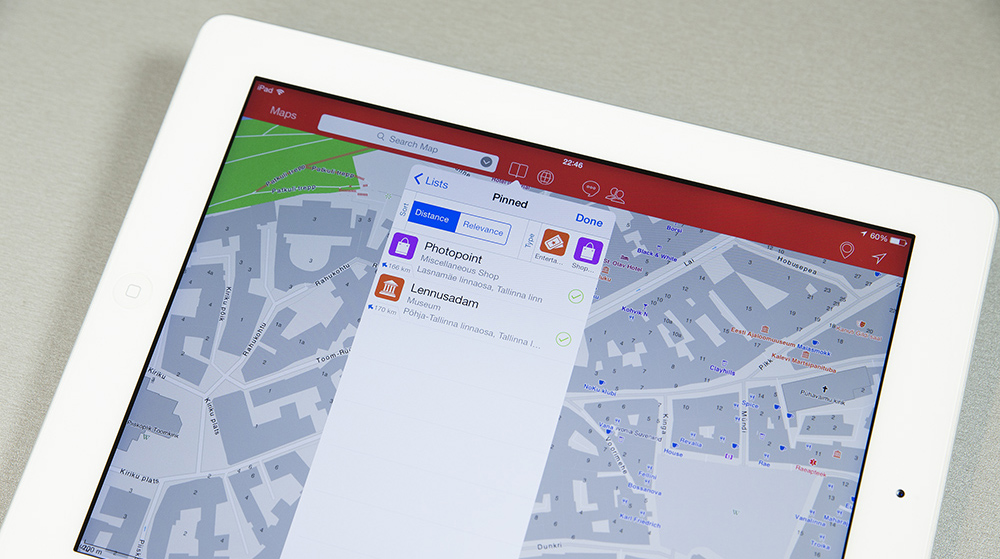 Linnade kaardid ja navigeerimine ilma andmesideta - Ulmon Pro rakendus iPad tahvelarvutile