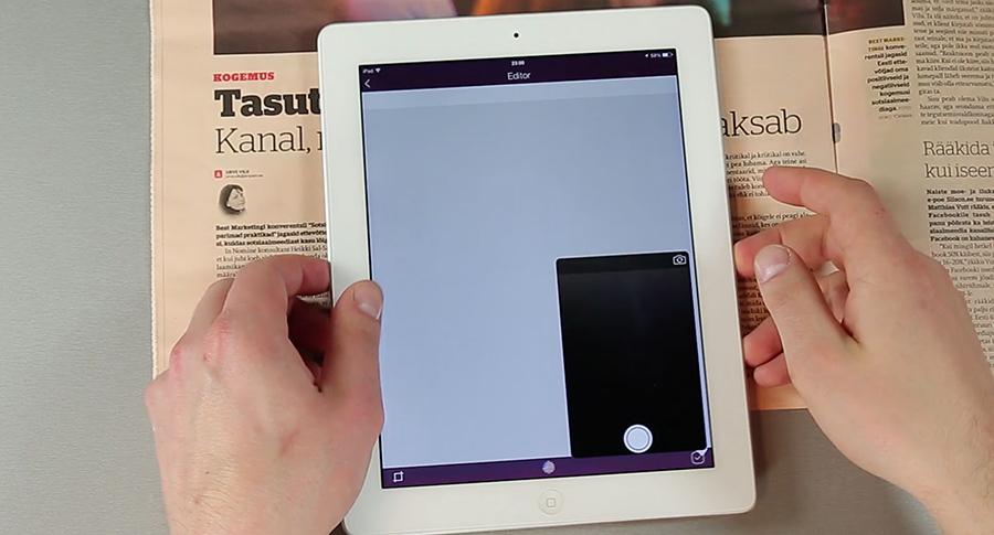 iPad rakendus OCR Scan muudab fotol oleva teksti päris tekstiks