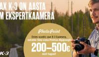Auhinnatud Pentax K-3 ostul ostame sinu vana Pentax digipeegli kuni 500€ eest tagasi