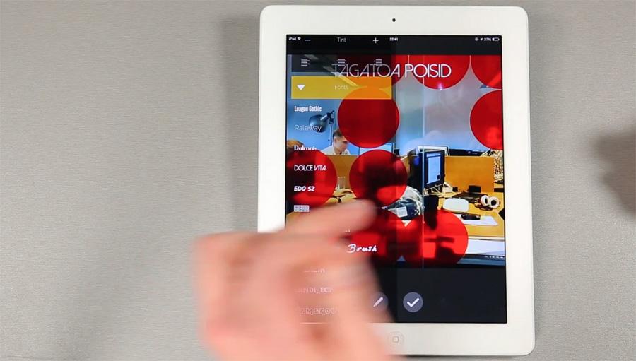 iPad rakendus ViText - lisa videotele taustamuusikat ja tekste