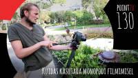 Point TV 130. Kuidas kasutada monopodi video filmimisel