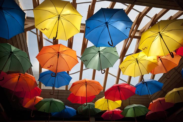 Rainbow umbrellas (Slovenia)