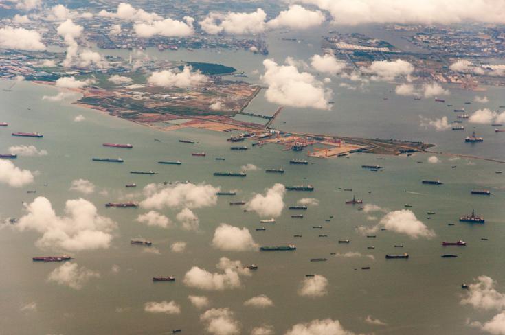 Singapuri piiril, laevastik