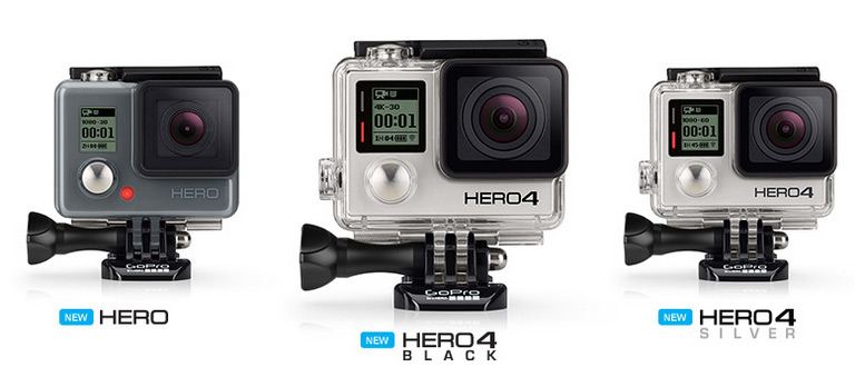 GoPro Hero4 Black seikluskaameral on kiire video, Gopro Hero4 Silver kaameral aga puuteekraan