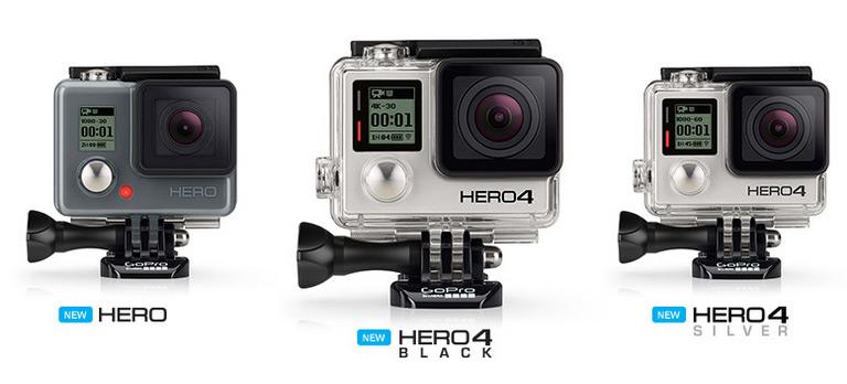 GoPro Hero4 Black seikluskaameral on kiire video, Gopro Hero4 Silver kaameral aga puuteekraan