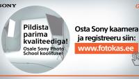 Sony hübriidkaamerate ostul kingituseks fotokoolitus