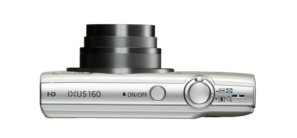IXUS 160 WHT Lens Out TOP