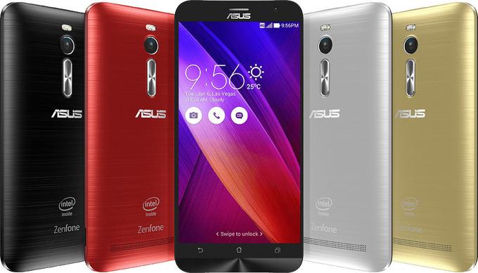 Asuse nutitelefonide lipulaev ZenFone 2 on 4-tuumalise protsessori ja 4 GB muutmäluga jõujaam
