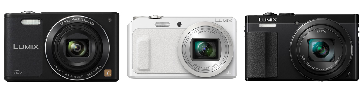 Panasonic`ult 3 uut võimsa suumiga kompaktkaamerat: Lumix DMC-SZ10, DMC-TZ57 ja DMC-TZ70