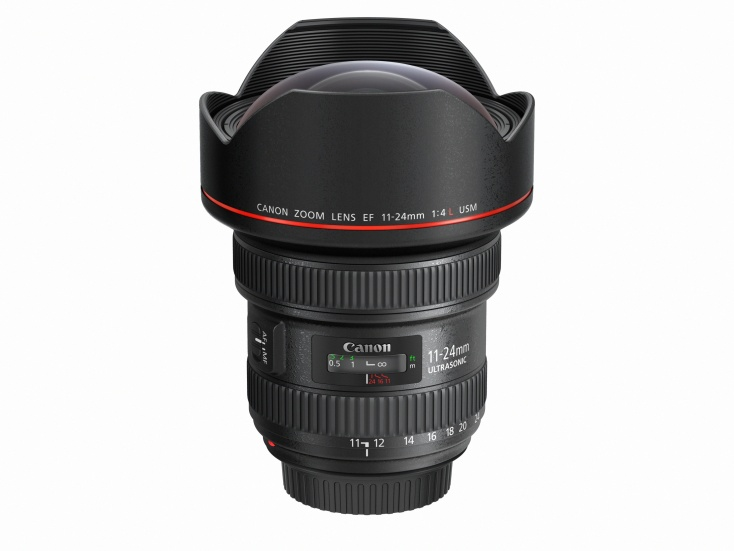 EF 11-24mm f4L USM Slant with cap