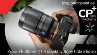 CP+ 2015: Distagon 35mm f/1.4 objektiiv Sony täiskaadersensoriga hübriidkaameratele