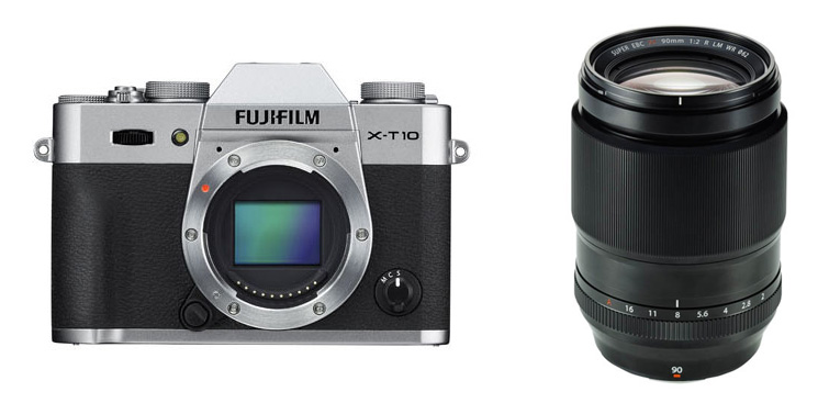 Fujifilm-X-T10-mirrorless-camera-and-90mm-objektiiv